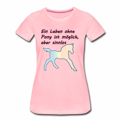 Pony Haustier - Frauen Premium T-Shirt