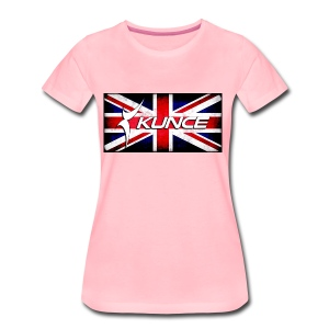 Kunce UK Union Jack Grunge - Women's Premium T-Shirt