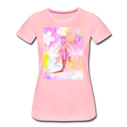 ®La Sirène de Fleurs (The Flower Mermaid) - Women's Premium T-Shirt