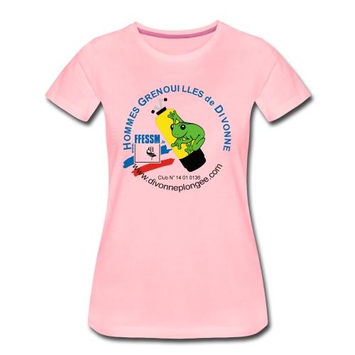 Hommes Grenouilles de Divonne - T-shirt Premium Femme