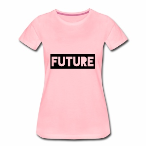 Future Clothing - Text Rectangle (Black) - Women's Premium T-Shirt