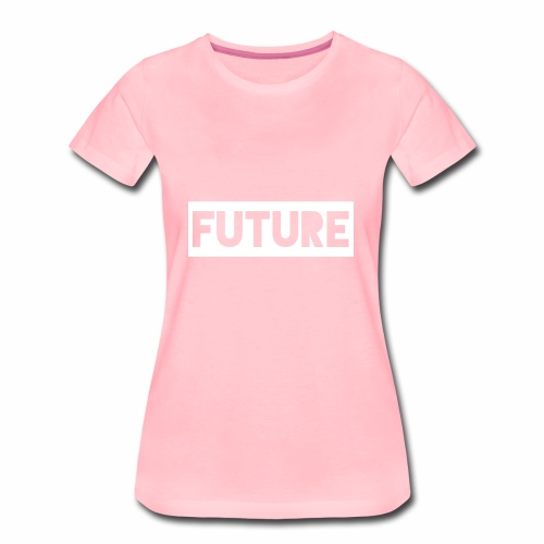 Future Clothing - Text Rectangle (White) - Women's Premium T-Shirt