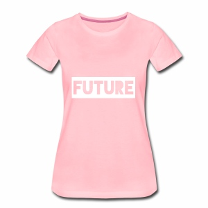 Future Clothing - Text Rectangle (White) - Women's Premium T-Shirt