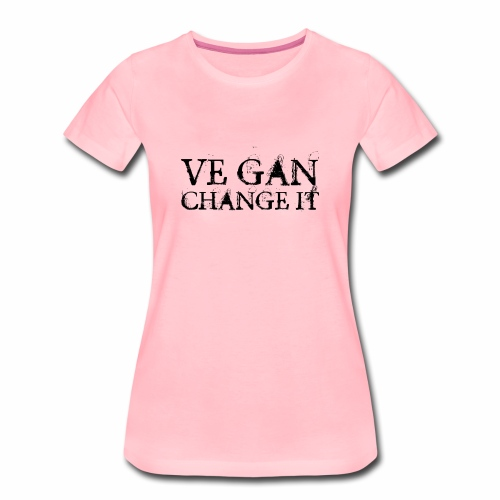 Ve gan change it - Frauen Premium T-Shirt