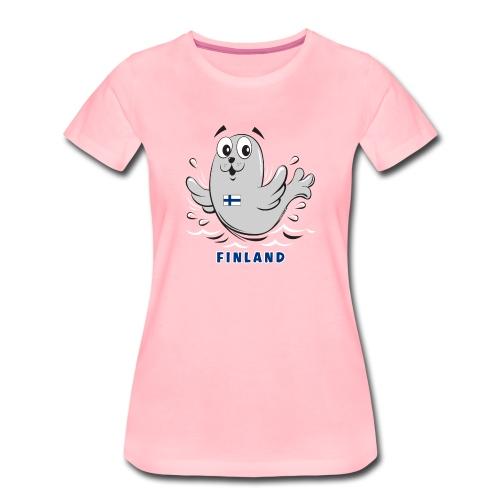 01-05 KUUTTI-SAIMAANNORPPA, Suomi, Lahjatuotteet - Naisten premium t-paita