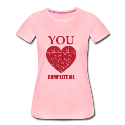 Du vervollständigst mich. - Frauen Premium T-Shirt