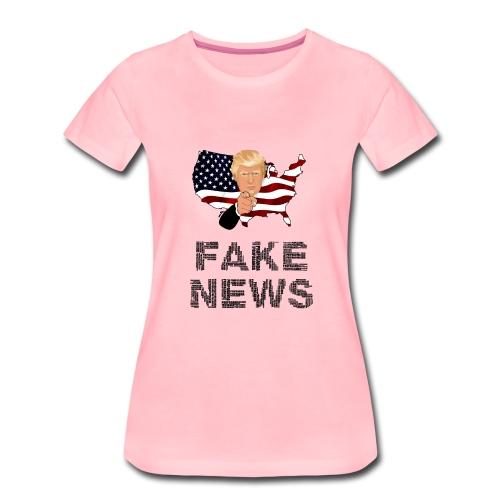 Trump Fake news - Frauen Premium T-Shirt