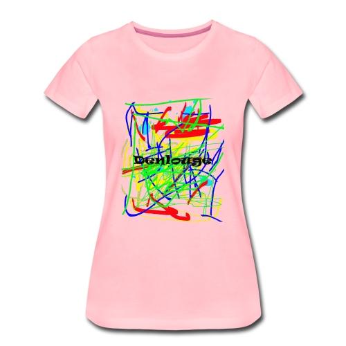 Denlouge Abstract - Frauen Premium T-Shirt
