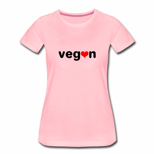 Vegan mit Herz - Frauen Premium T-Shirt