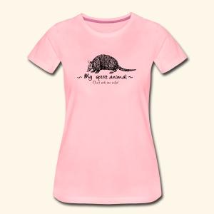 Mon animal totem est le tatou. - T-shirt Premium Femme
