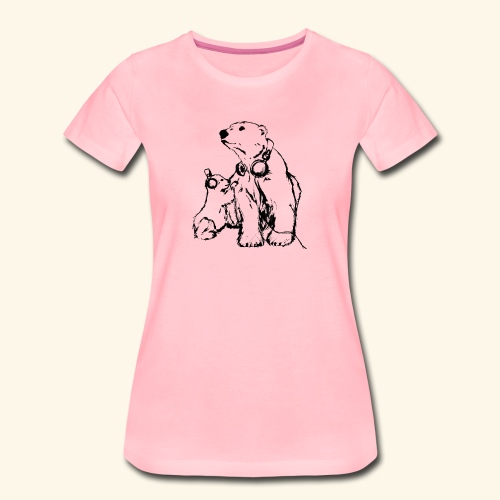 POLAR MUSIC BABY - Frauen Premium T-Shirt