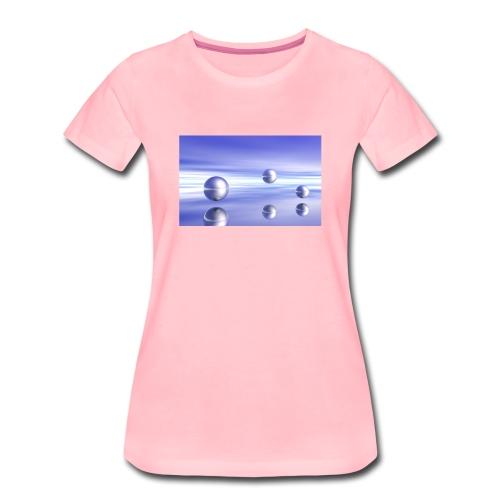 Kugel - Landschaft in 3D - Frauen Premium T-Shirt