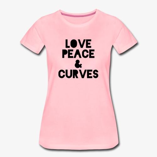 LOVE PEACE & CURVES T SHIRT - Frauen Premium T-Shirt