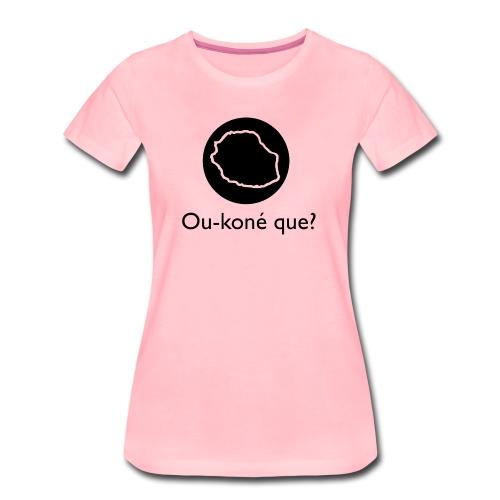 Logo Ou-koné que? - T-shirt Premium Femme
