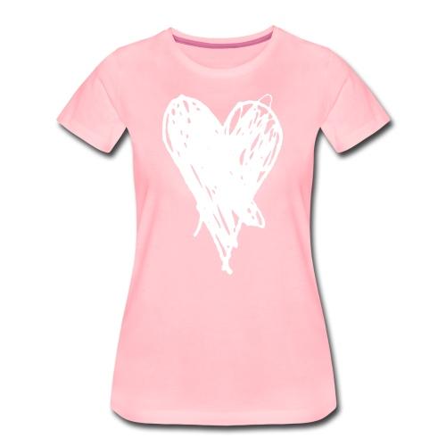 Cœur et amour pour dire je t'aime, i love you - T-shirt Premium Femme