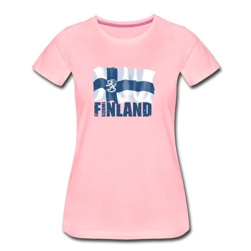 01-SUOMI LEIJONALIPPU - FINLAND LION FLAG - Naisten premium t-paita