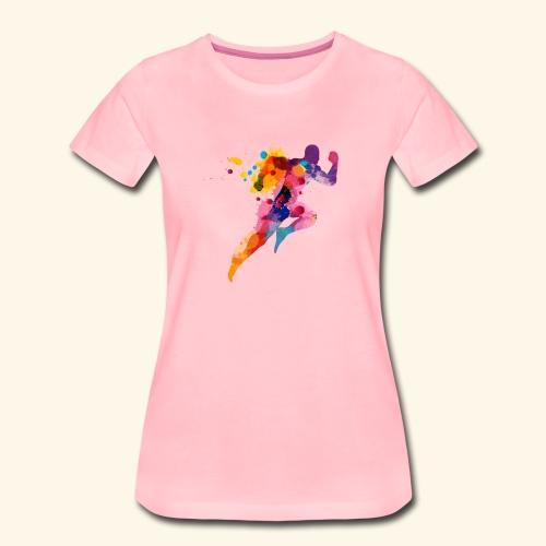 Running colores - Camiseta premium mujer