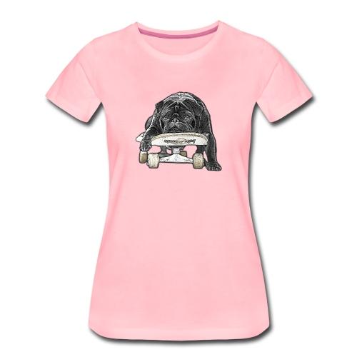 skateboard pug - Frauen Premium T-Shirt
