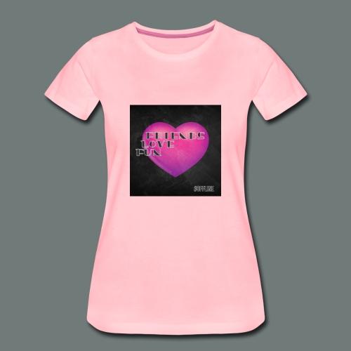 Offline Friends Love Fun - Vrouwen Premium T-shirt