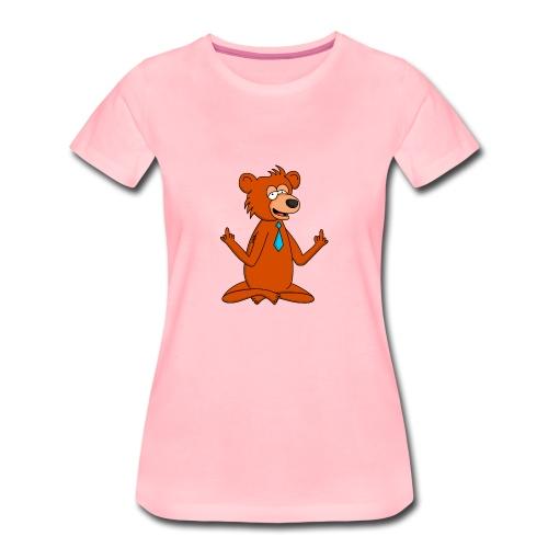 Yoga Bär - Frauen Premium T-Shirt