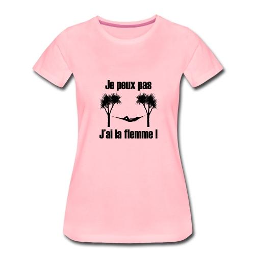 je peux pas je suis de repos - T-shirt Premium Femme