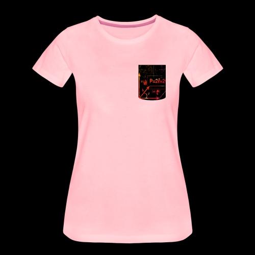 Mathe Physik Wissenschaft Lehrer Pocket Design - Frauen Premium T-Shirt