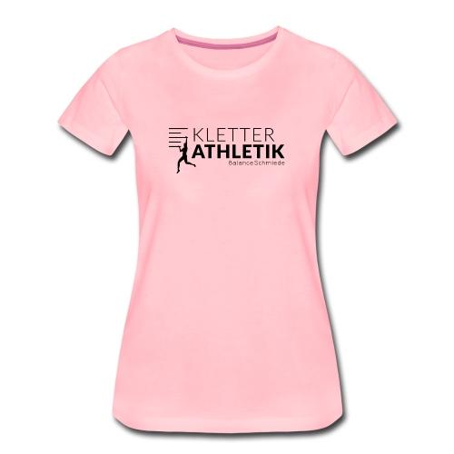 Kletterathletik by BalanceSchmiede schwarz - Frauen Premium T-Shirt
