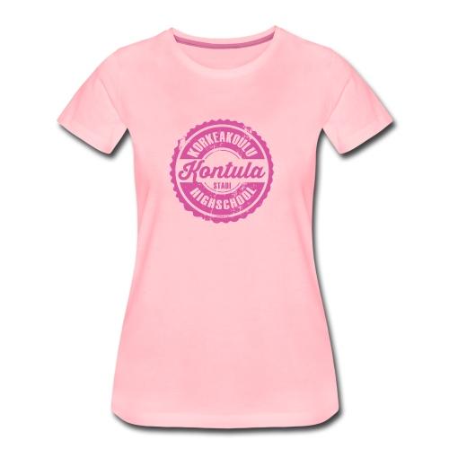 06P-KONTULAN KORKEAKOULU - Tekstiilit ja lahjat - Naisten premium t-paita