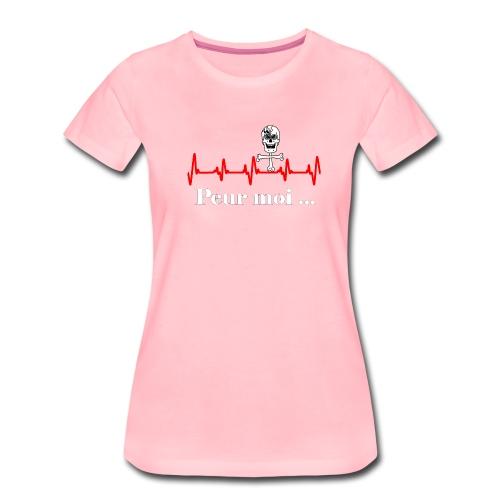 Crâne et croix d'os peur moi rythme cardiaque RFS - T-shirt Premium Femme