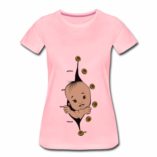 Design 1 baby without smile buttons right - T-shirt Premium Femme