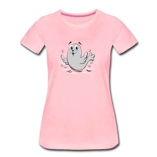 10-43 FUN BABY SEAL PRODUCTS - Naisten premium t-paita