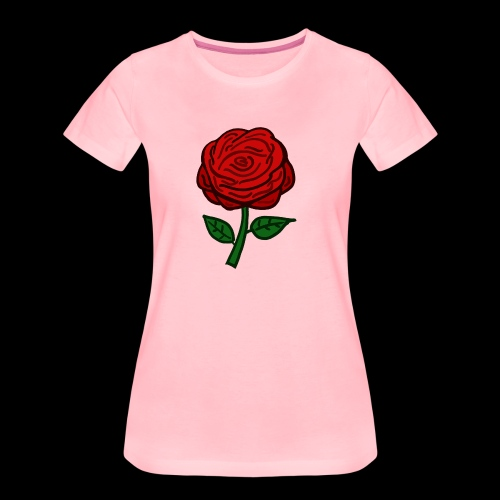 Rote Rose - Frauen Premium T-Shirt