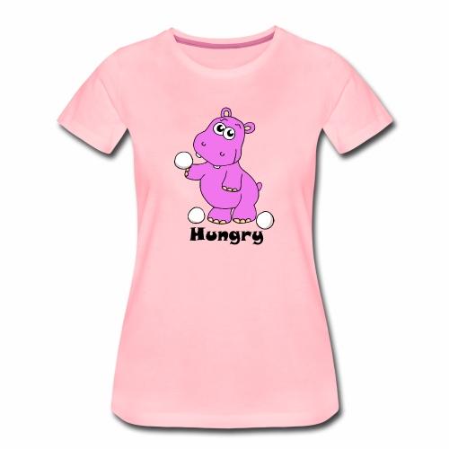 Hungry Hippo - Women's Premium T-Shirt