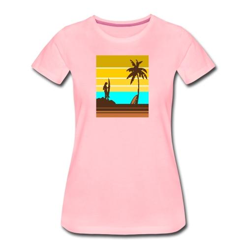 Surfer Girl - Frauen Premium T-Shirt