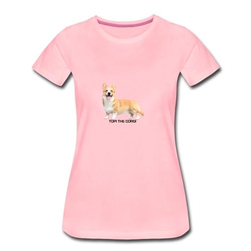 Topi the Corgi - Black text - Women's Premium T-Shirt