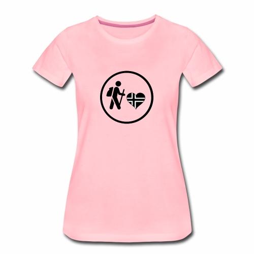 Norwayhike - Premium T-skjorte for kvinner