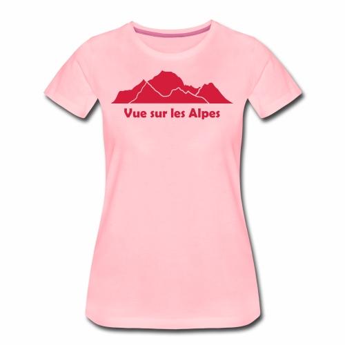 Vue sur les Alpes - T-shirt Premium Femme