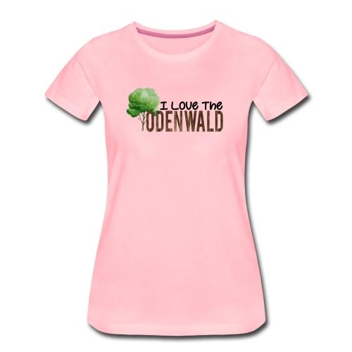 I Love The Odenwald - Frauen Premium T-Shirt