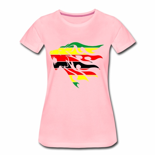 zimbabwe flag lion - Women's Premium T-Shirt