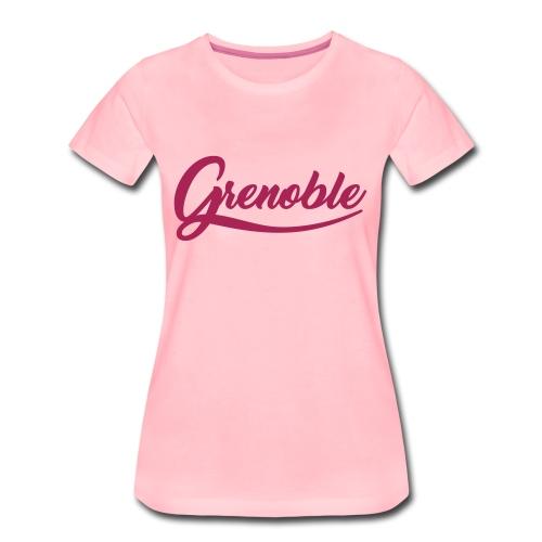 grenoble, old school - T-shirt Premium Femme