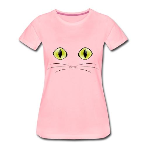 Katzenaugen Grün - Frauen Premium T-Shirt
