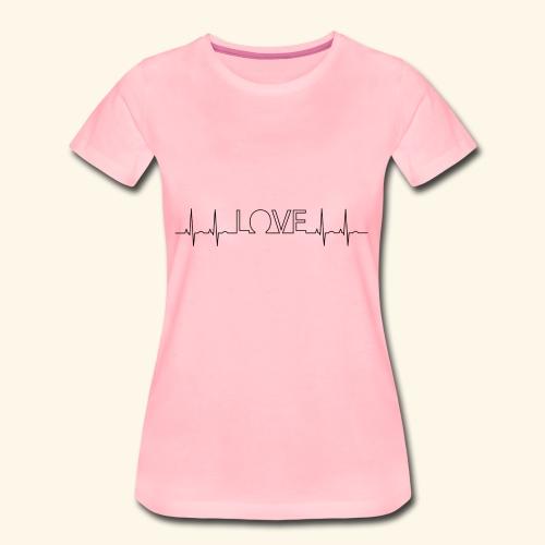 LOVE in the heartbeat - Frauen Premium T-Shirt
