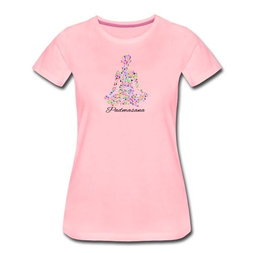Yoga Padmasana T-Shirt - Frauen Premium T-Shirt