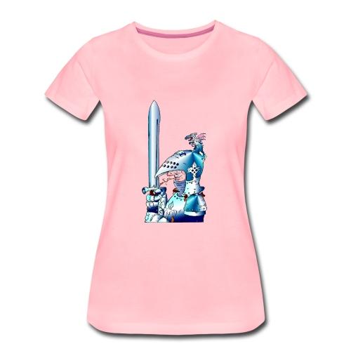 Ritter mit Schwert rechts - Frauen Premium T-Shirt