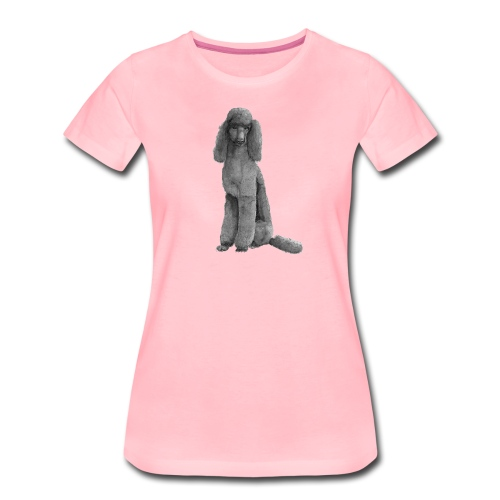 poodle standard black / kongepuddel sort - Dame premium T-shirt