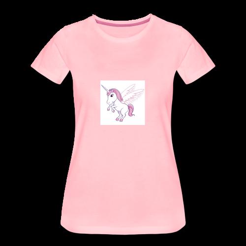 Petite licorne rose super mignonne!! - T-shirt Premium Femme