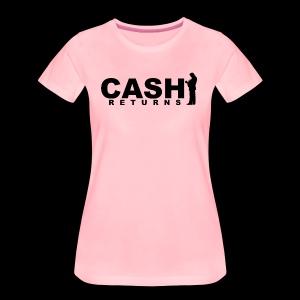 CASH RETURNS Logo (Black) - Women's Premium T-Shirt
