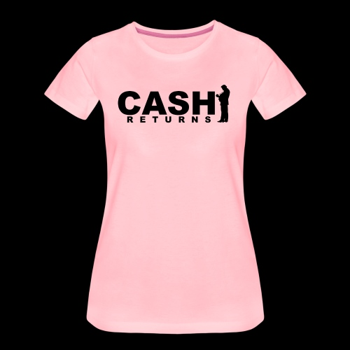 CASH RETURNS Logo (Black) - Women's Premium T-Shirt
