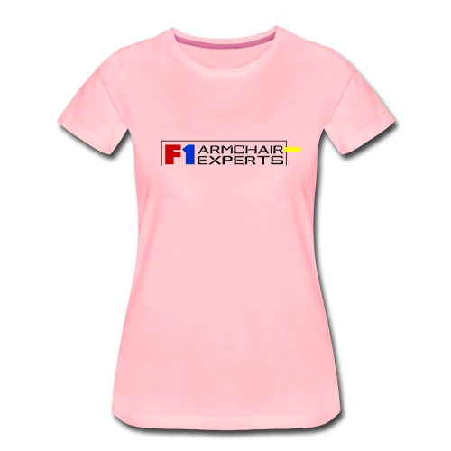 F1 Armchair Experts Logo BK - Women's Premium T-Shirt