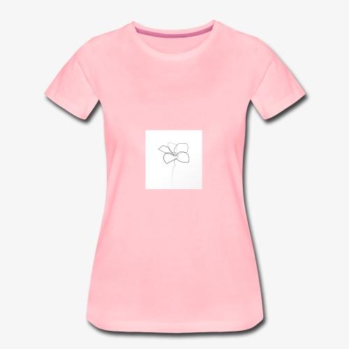 Flower - Dame premium T-shirt